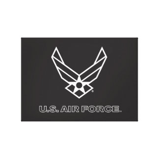Small Black Air Force Logo with Outline Canvas Prints
