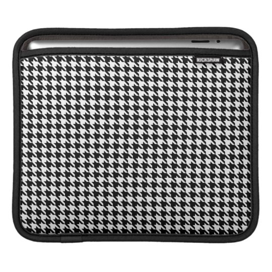 Small Black and White Houndstooth iPad 3 Sleeve iPad Sleeves