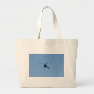 Small black helicopter. large tote bag