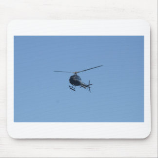 Small black helicopter. mouse mat