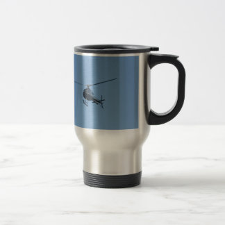 Small black helicopter. travel mug
