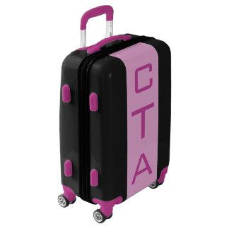 SMALL Black + Light Purple Monogram Carry On Bag Luggage
