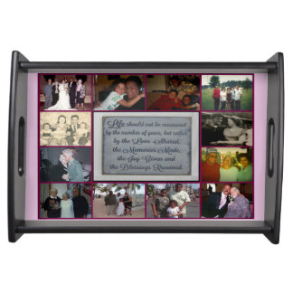 Small Black Memories Made Never Forgotten Tray Food Trays