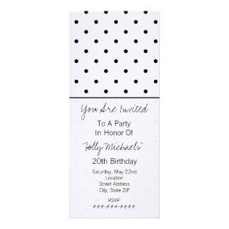 Small Black Polka Dots Party Invitation