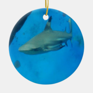 Small Black Tipped Shark Christmas Ornament