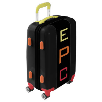SMALL Black+Yellow+Orange+Red Monogram Carry On Luggage