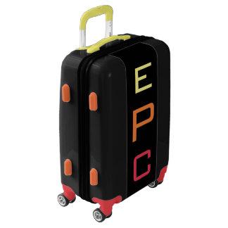 SMALL Black+Yellow+Orange+Red Monogram Carry On Luggage