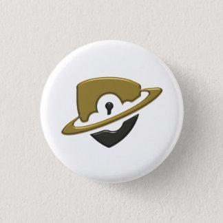 Small Blackwood Button - Gold & Black