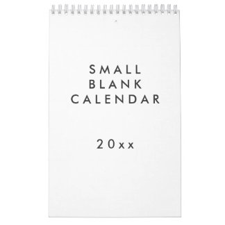 Small Blank Calendar - You Can Personalize It