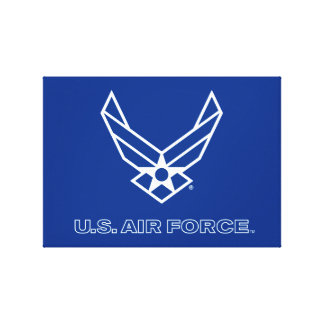 Small Blue Air Force Logo with Outline Gallery Wrap Canvas