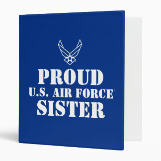 Small Blue Air Force Logo with Outline Vinyl Binder