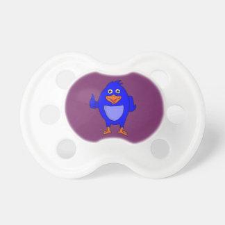 Small blue bird design custom pacifier and dummies