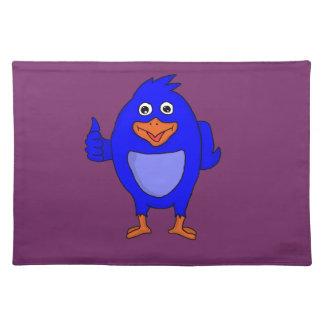 Small blue bird design custom place mats