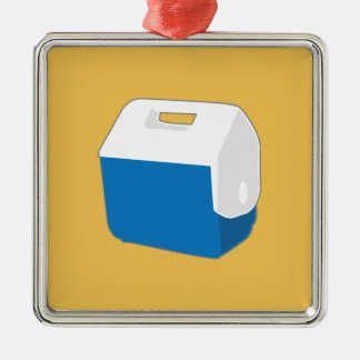 Small blue cooler christmas ornament