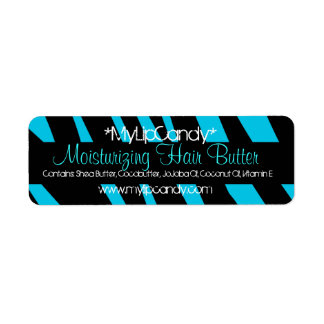 Small Blue Zebra Product Label
