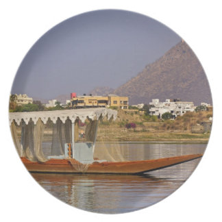 Small boat, Lake Pichola, Udaipur, India. Plate