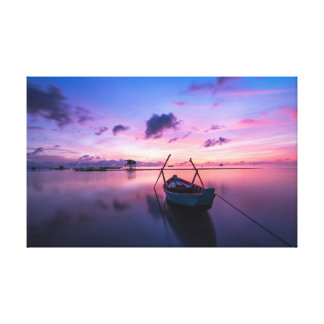 Small Boat   Sky   Island Canvas Print