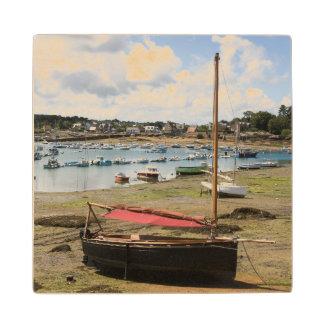 Small Boats | Ploumanac'H, France Wood Coaster