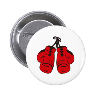 SMALL BOXING GLOVES 6 CM ROUND BADGE