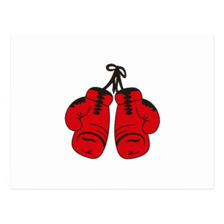 SMALL BOXING GLOVES POSTCARD