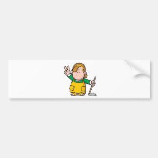Small boy vector bumper stickers
