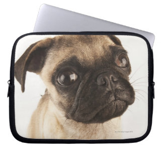 Small breed of dog with short muzzled face laptop sleeve