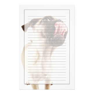 Small Breed of Dog with Short Muzzled Face Stationery Design