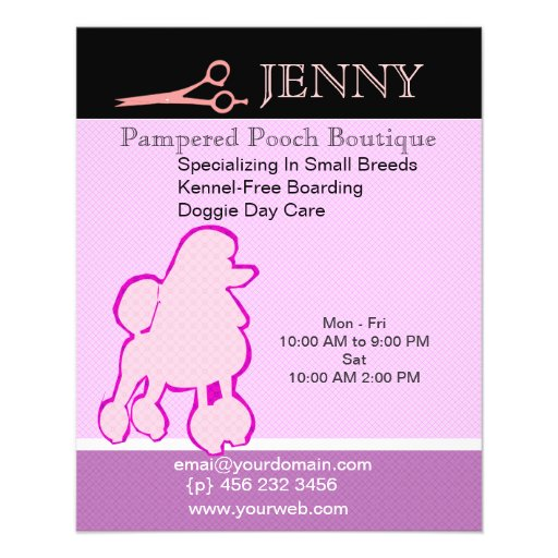 Small Breeds Kennel Doggie Day Care Custom Flyer