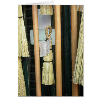 Small Broom Greeting Card