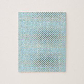 Small Brown Polka Dots On Blue Background Jigsaw Puzzle