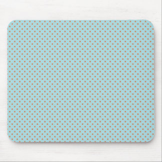 Small Brown Polka Dots On Blue Background Mouse Mat