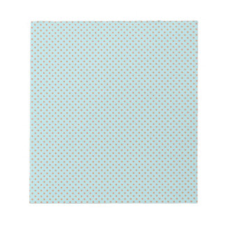 Small Brown Polka Dots On Blue Background Notepad