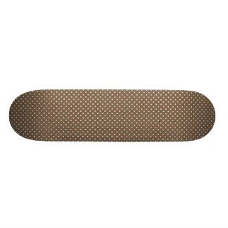 Small brown polka dots skateboard