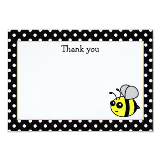 Small Bumble Bee Yellow Flat Thank You Note Cards 9 Cm X 13 Cm Invitation Card