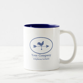 Small Business Blue Weathervane Two-Tone Coffee Mug