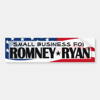 Small Business for Romney/Ryan Bumper Sticker
