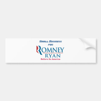 Small Business For Romney Ryan Car Bumper Sticker