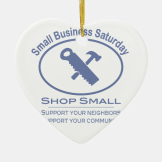 Small Business Saturday - Hardware blue Christmas Ornament