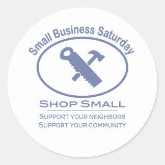 Small Business Saturday - Hardware blue Round Sticker