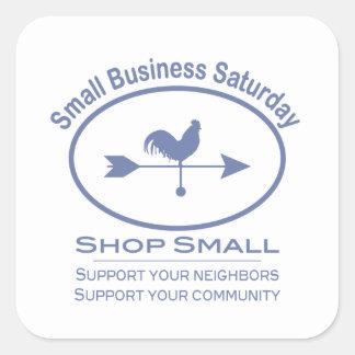 Small Business Saturday Weather vane Square Sticker