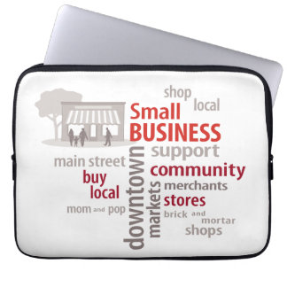 Small Business, Shop Local, Buy Local Laptop Computer Sleeve