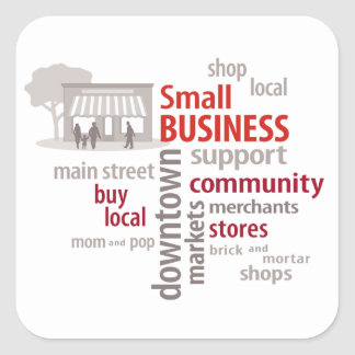 Small Business Square Sticker