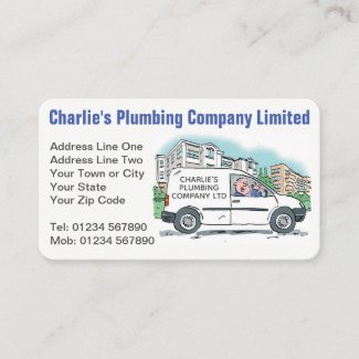 Small Business with Name on Company Van Business Card