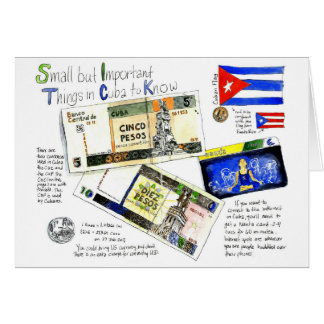 Small but Important Things in Cuba to Know Card