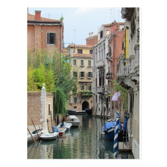 Small Canal in Venice, Italy Postcard