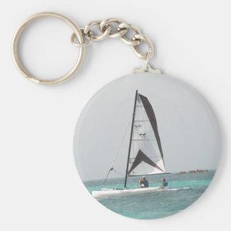Small Catamaran Sailboat Keychain