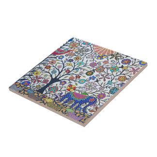 Small ceramic tile- nature tile