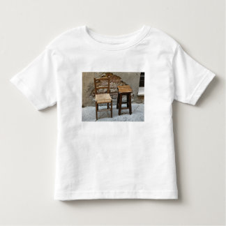 Small chair and stool, Pienza, Italy Toddler T-Shirt