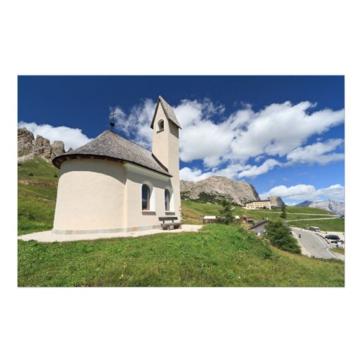 small chapel in Gardena pass Stationery Paper