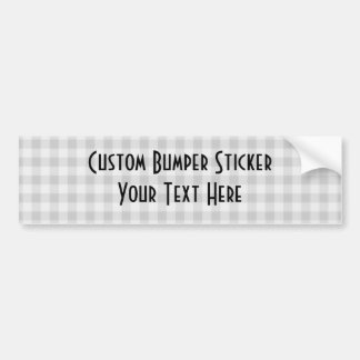Small Checkers Pattern 1 - Black & White Bumper Sticker